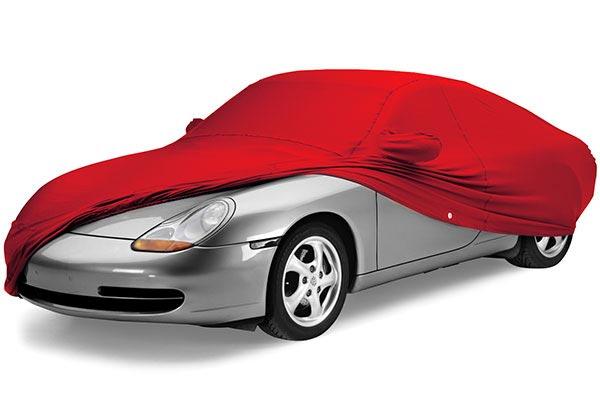 carro com capa vermelha