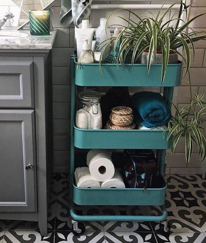 carrinho armazenamento de banheiro