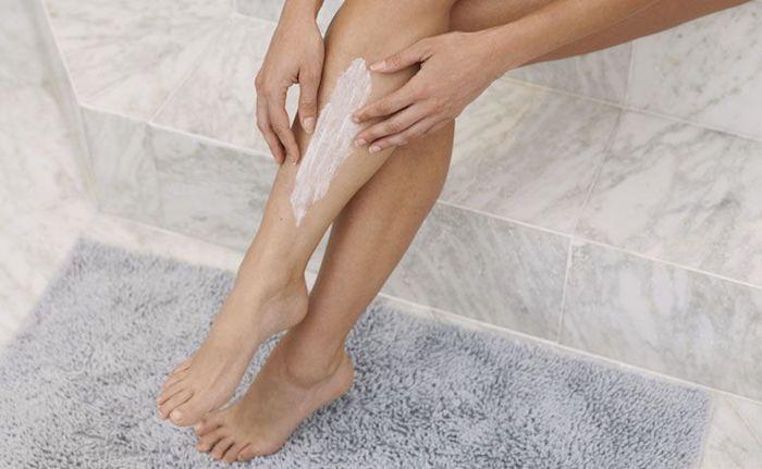 descolorir pelo de perna