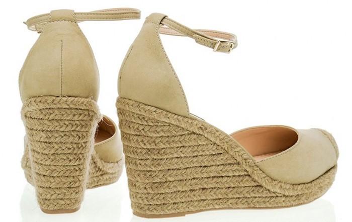 sandália com salto de corda