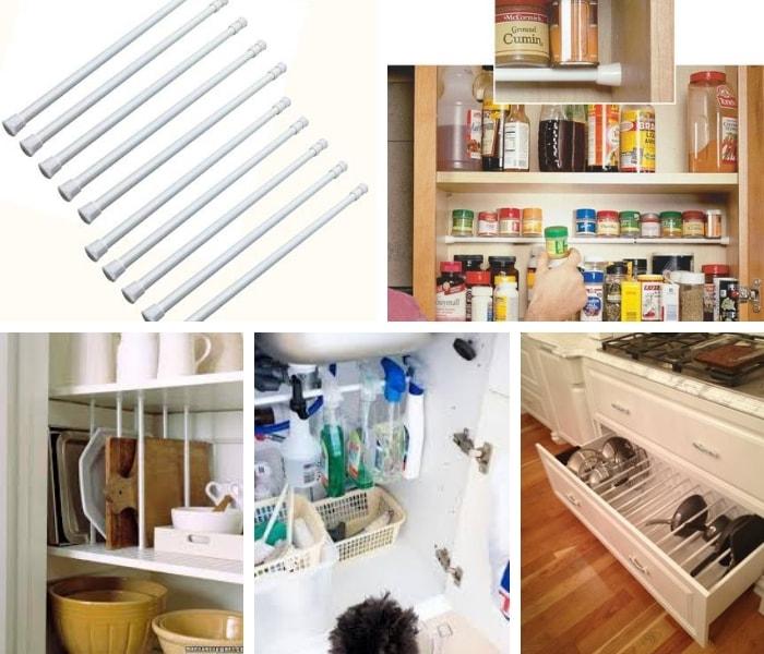 barra que adapta na organização de cozinha