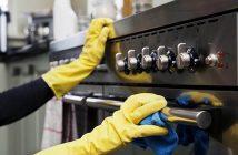 limpando forno