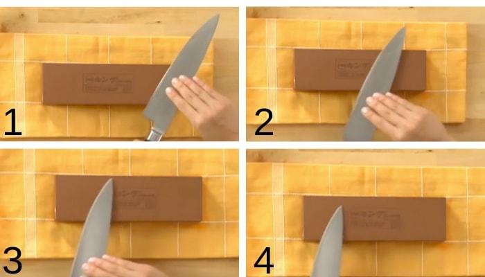técnica afiar faca