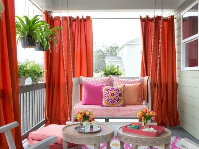 varanda com cortinas