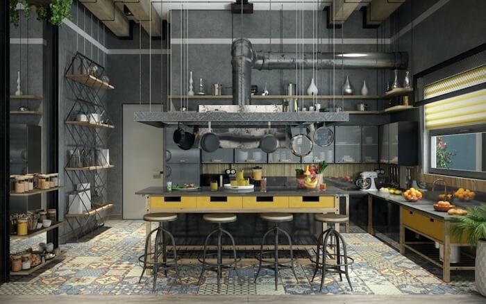 cozinha estilo industrial