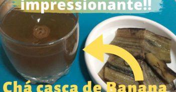 chá de casca de banana