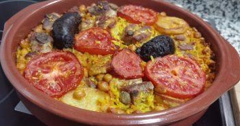 Arroz ao forno estilo valenciano