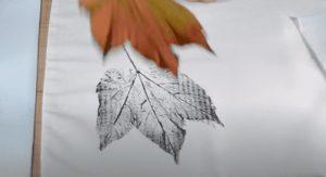 impressão de folhas secas