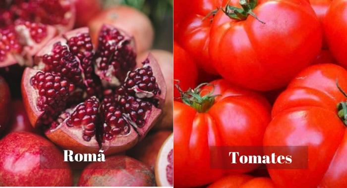 Romã - tomates